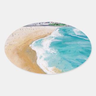 Bondi in Perspective Oval Sticker