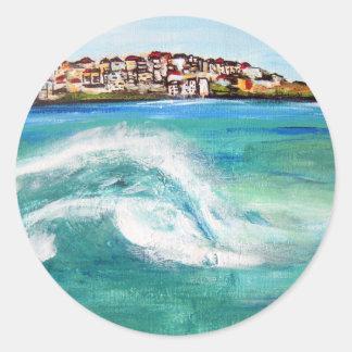 Bondi Surf ..Iconic and popular Aussie Beach Classic Round Sticker