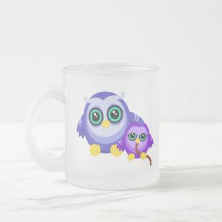 Bonding Fukurou Frosted Glass Coffee Mug