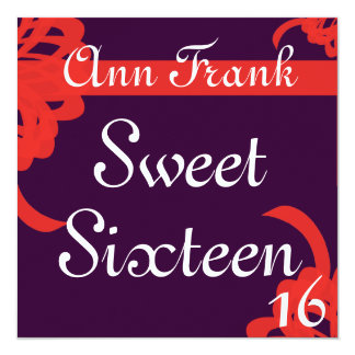 Bondings of Love Sweet Sixtee Invitation-Customize Card
