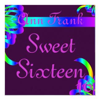 Bondings of Love Sweet Sixtee Invitation-Customize Invitation