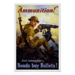 Bonds Buy Bullets -- WWI Poster