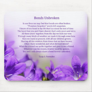 Bonds Unbroken Poetry Collector Mouse Pad