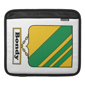 Bondy Family Crest iPad Sleeves