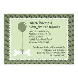 Bone and Balloon Dog Birthday Party Invitation