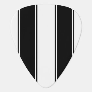 Bone and Black Zebra-Striped Standard Guitar Pick