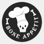 Bone Appetit Skeleton Chef Sticker