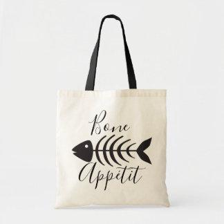 Bone Appetite Fish Bone Skeleton Tote Bag