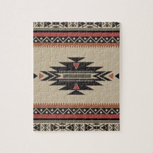 Bone Black Rust American Indian Style Jigsaw Puzzle