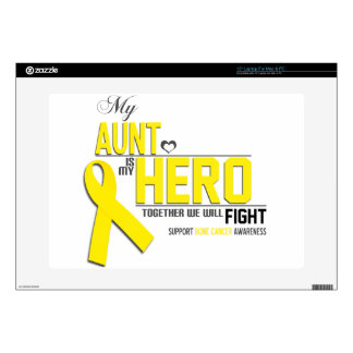 "Bone Cancer Awareness:  aunt Decal For 15"" Laptop"