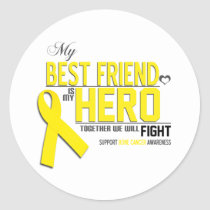 Bone Cancer Awareness: Best Friend Classic Round Sticker