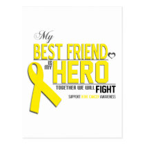 Bone Cancer Awareness: Best Friend Postcard