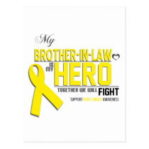 Bone Cancer Awareness:  brother in law Postcard