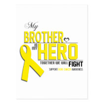 Bone Cancer Awareness:  brother Postcard