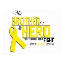 Bone Cancer Awareness:  brother Postcard