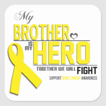 Bone Cancer Awareness:  brother Square Sticker