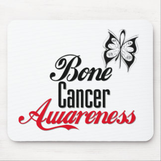 Bone Cancer Awareness Butterfly Mouse Pads