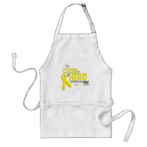 Bone Cancer Awareness: cousin Adult Apron