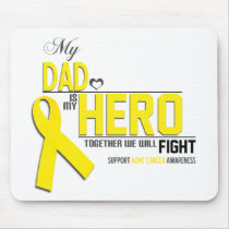 Bone Cancer Awareness: dad Mouse Pad