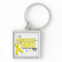 Bone Cancer Awareness: grandfather Keychain