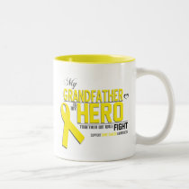 Bone Cancer Awareness: grandfather Two-Tone Coffee Mug