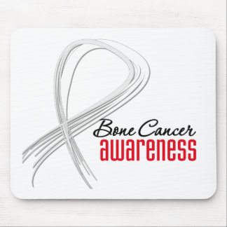 Bone Cancer  Awareness Grunge Ribbon Mouse Mat