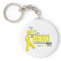 Bone Cancer Awareness: niece Keychain