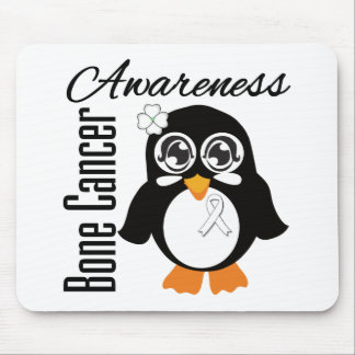 Bone Cancer Awareness Penguin Mouse Pads