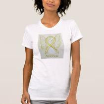 Bone Cancer Awareness Ribbon Angel Art Shirt