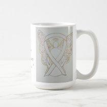 Bone Cancer Awareness Ribbon Angel Custom Mug