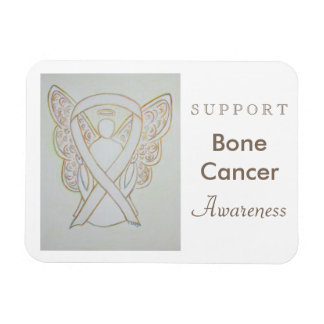 Bone Cancer Awareness Ribbon Angel Magnet