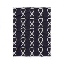 Bone Cancer Awareness Ribbon Fleece Chemo Blanket