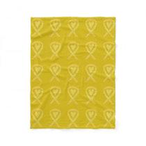 Bone Cancer Awareness Ribbon Fleece Chemo Blankets