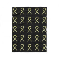 Bone Cancer Awareness Ribbon Fleece Soft Blanket