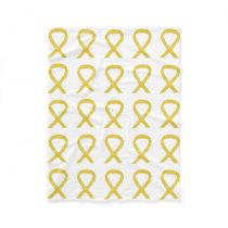 Bone Cancer Awareness Ribbon Fleece Soft Blankets