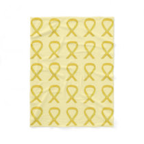 Bone Cancer Awareness Ribbon Fleece Soft Blankets