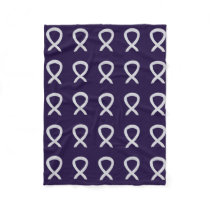 Bone Cancer Awareness Ribbon Soft Fleece Blanket