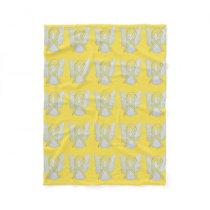 Bone Cancer Awareness Ribbon Soft Fleece Blankets