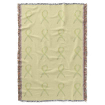 Bone Cancer Awareness Ribbon Throw Blankets