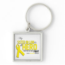Bone Cancer Awareness: sister in law Keychain