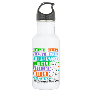 Bone Cancer Believe Strength Determination 18oz Water Bottle