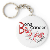 Bone Cancer BUTTERFLY 3 Awareness Keychain