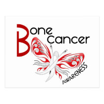 Bone Cancer BUTTERFLY 3 Awareness Postcard