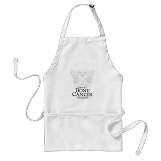 Bone Cancer Butterfly Adult Apron