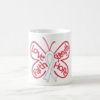 Bone Cancer Butterfly Inspiring Words Classic White Coffee Mug