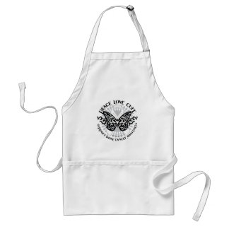 Bone Cancer Butterfly Tribal Adult Apron