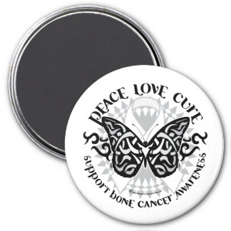 Bone Cancer Butterfly Tribal Magnet