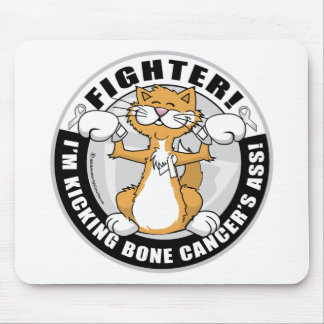 Bone Cancer Cat Fighter Mouse Pad