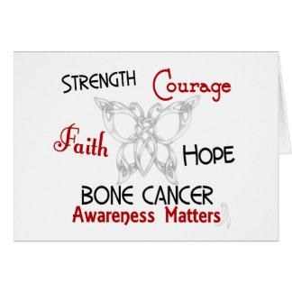 Bone Cancer Celtic Butterfly 3 Card