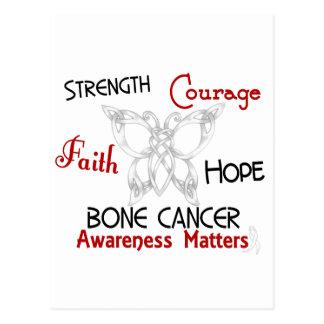 Bone Cancer Celtic Butterfly 3 Postcard